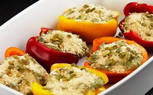 Unfrozen stuffed peppers