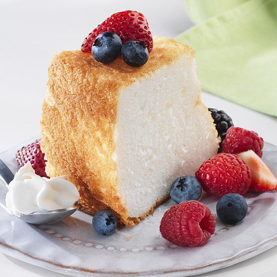 Slce Of A Angel Food Cake