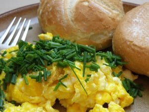 unfrozen scrambled eggs