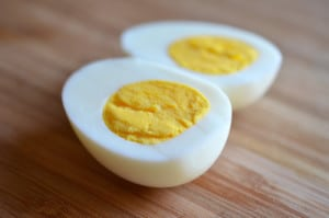 cooked eggs