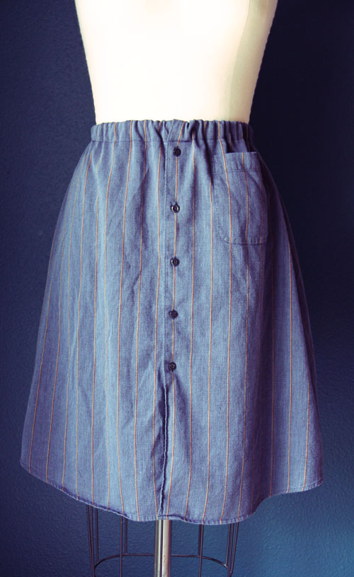 A Skirt from a Men's Shirt