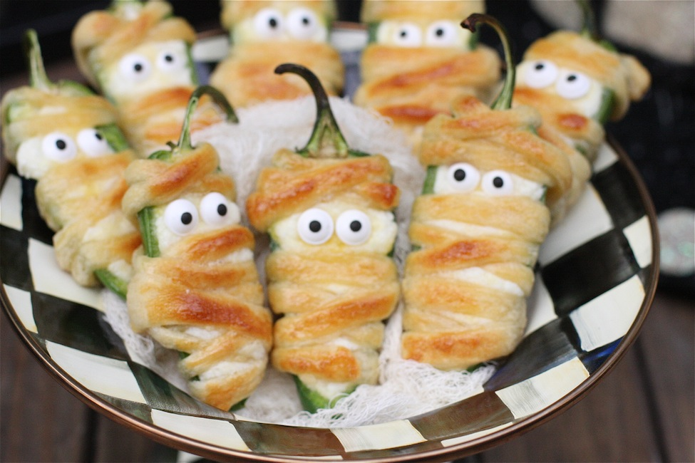 5 hallow peno poppers - Halloween Savory Recipes