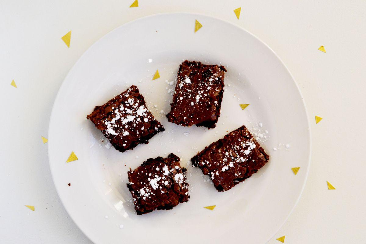 Valentine's Day Dessert Kabobs - make brownies