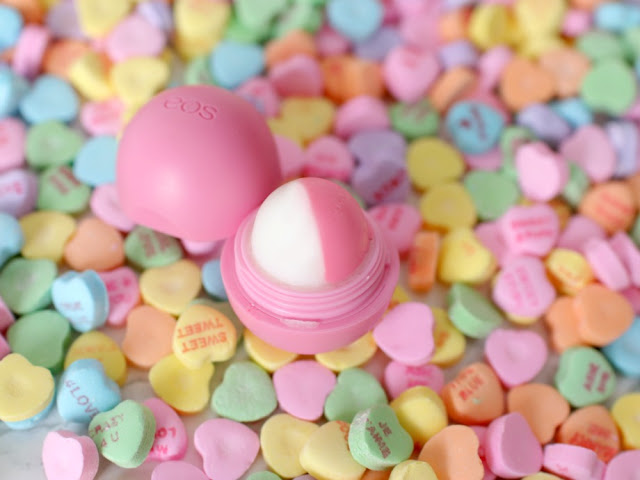 Solid perfume in eos container