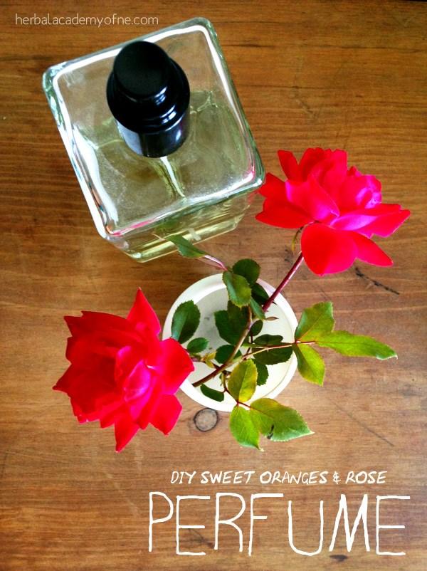 Sweet orange and rose perfume