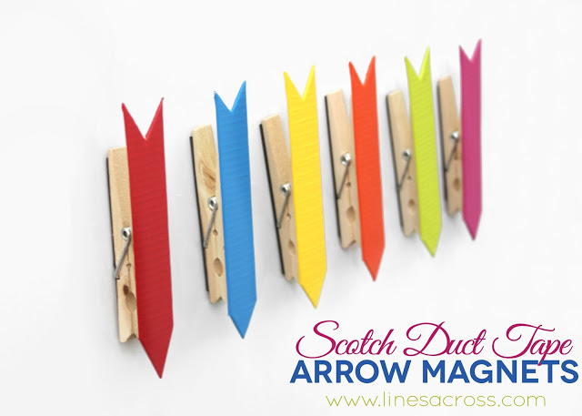 Colorful scotch duct tape arrow magnets @linesacross
