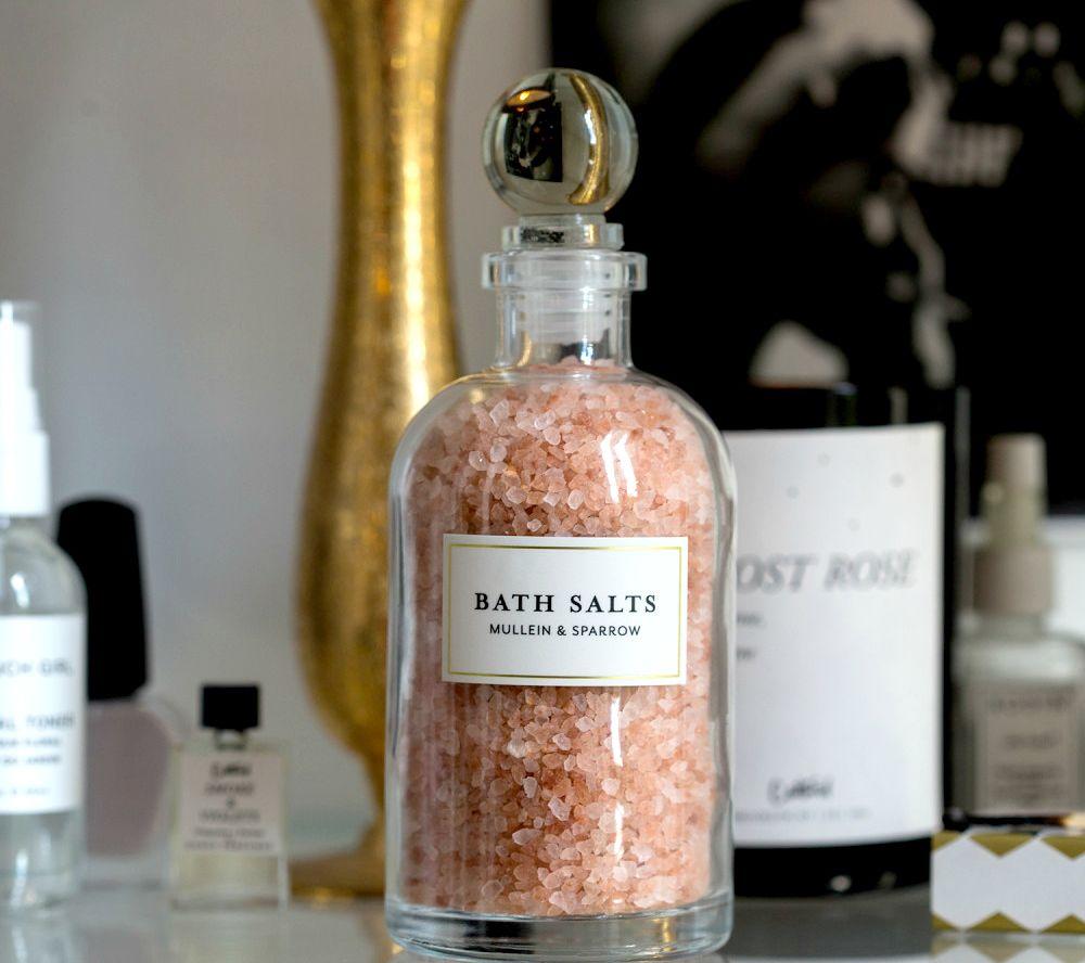 Mother's day gift guide bath salt bottle