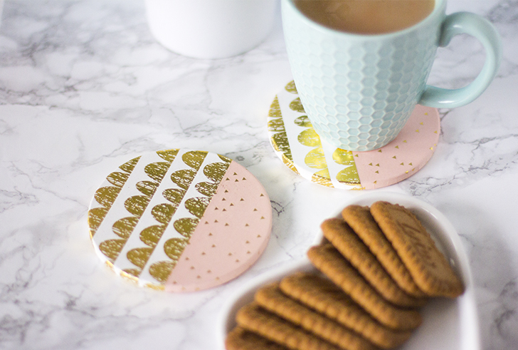 Mother's day gift guide diy coasters