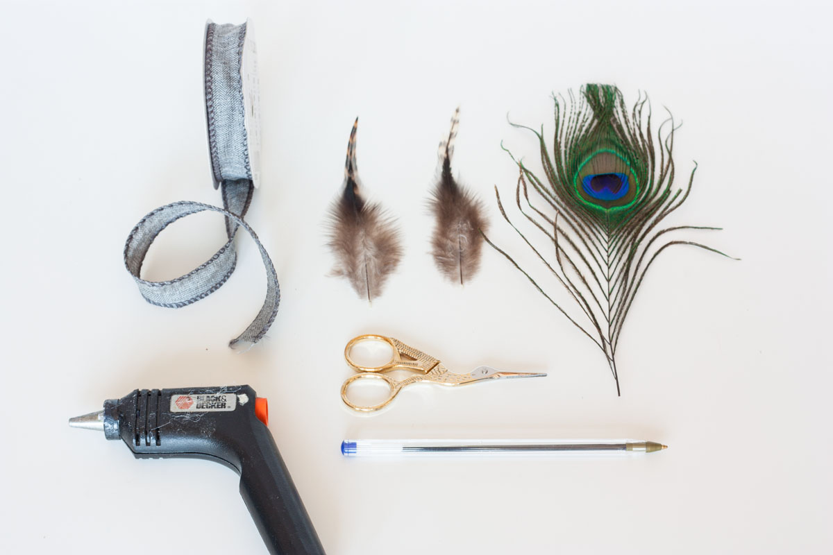 Father's day gift idea diy feather pen supplies