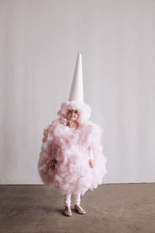 Diy upside down cotton candy costume