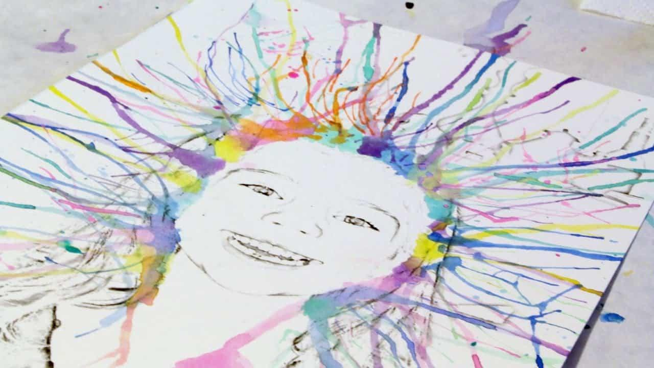 Watercolour self portraits