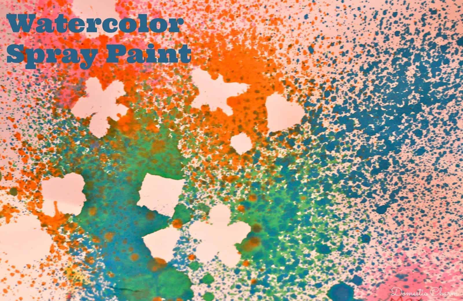 Watercolour spray paint