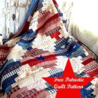 Free quilt pattern patriotic quilt