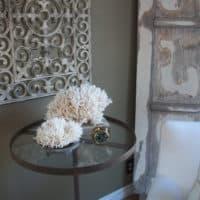 Painted rubber mat wall art