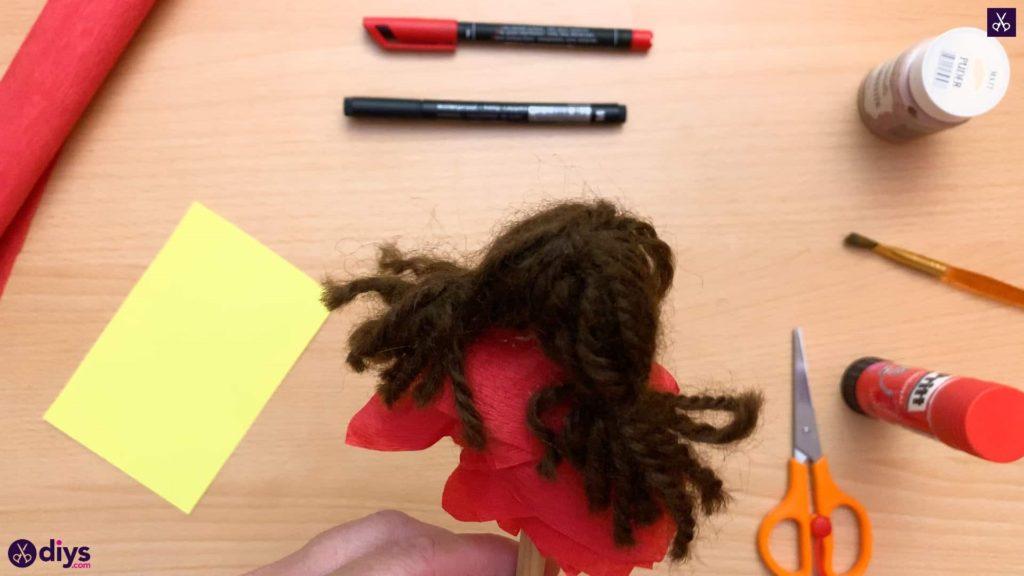 Diy pencil puppet back