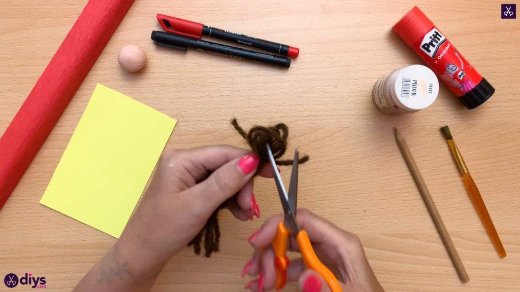Diy pencil puppet cut