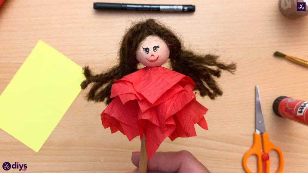 Diy pencil puppet for kids