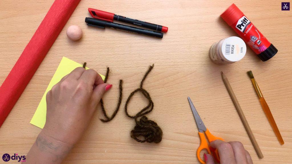 Diy pencil puppet hair