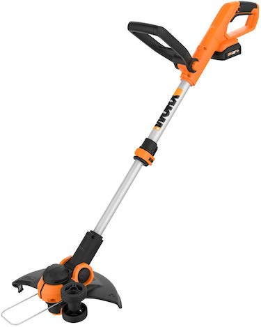 "Worx wg162 20v 12"" cordless string trimmer:edger, battery and charger included"