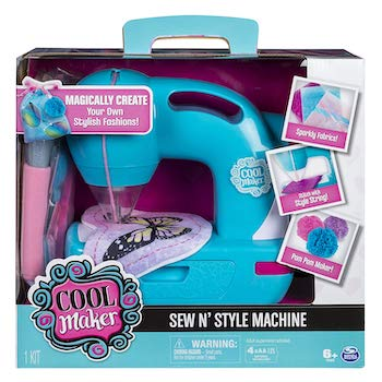 Cool maker sew n' style sewing machine with pom pom maker attachment
