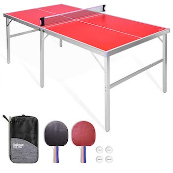 Gosports 6'x3' mid size table tennis game set