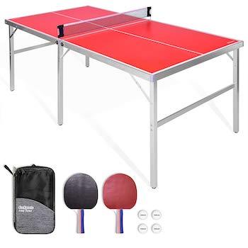 Gosports 6'x3' mid size table tennis game set