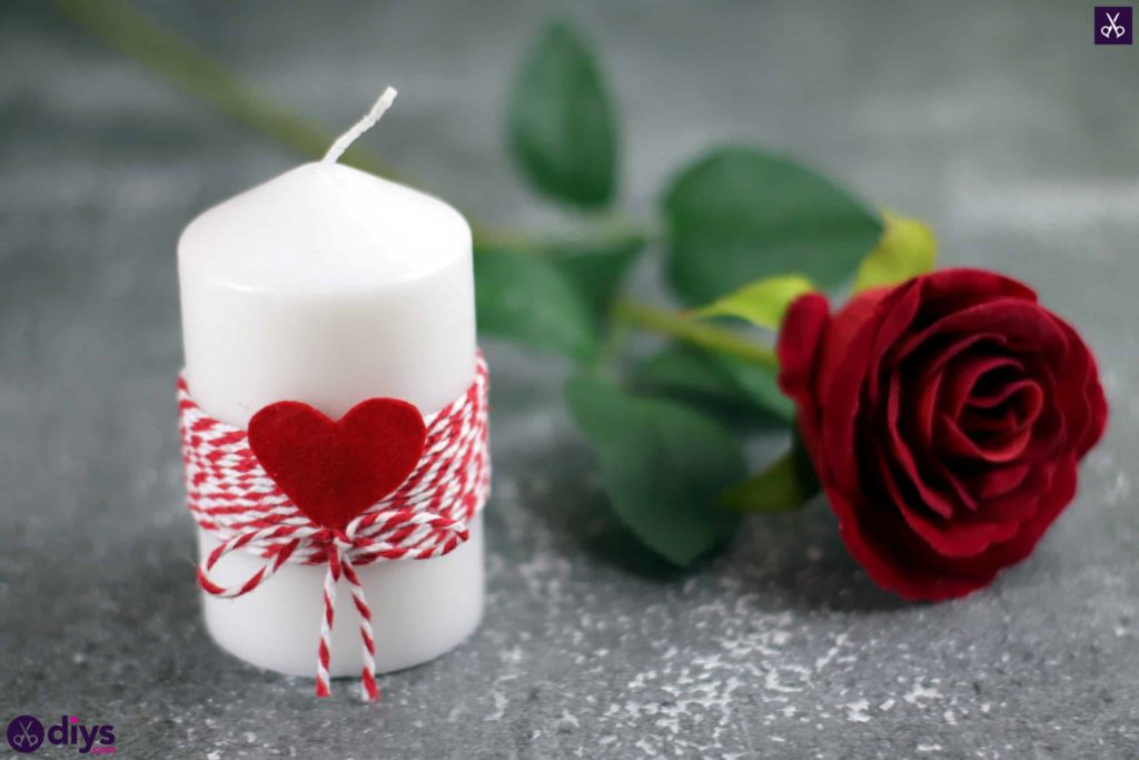 Diy valentine's candle craft