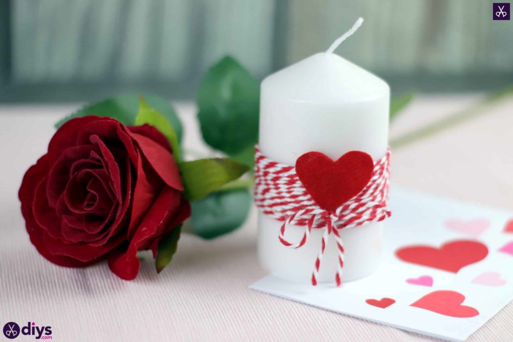 Diy valentine's candle craft decor