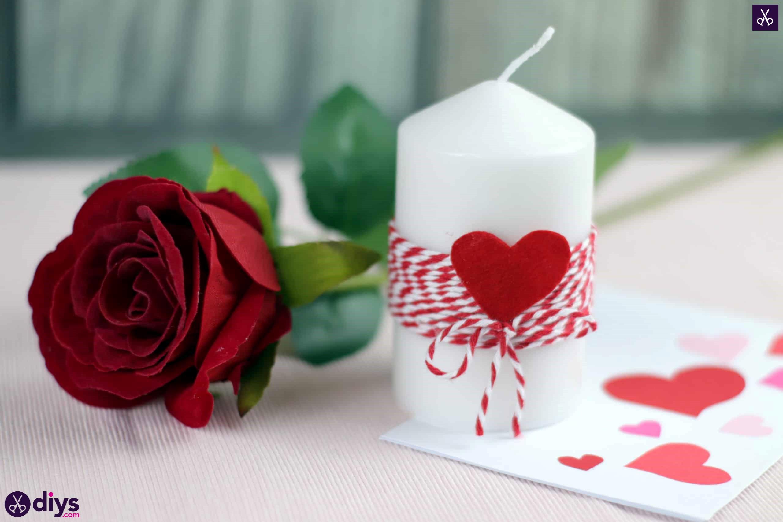 Diy valentine's candle craft decor