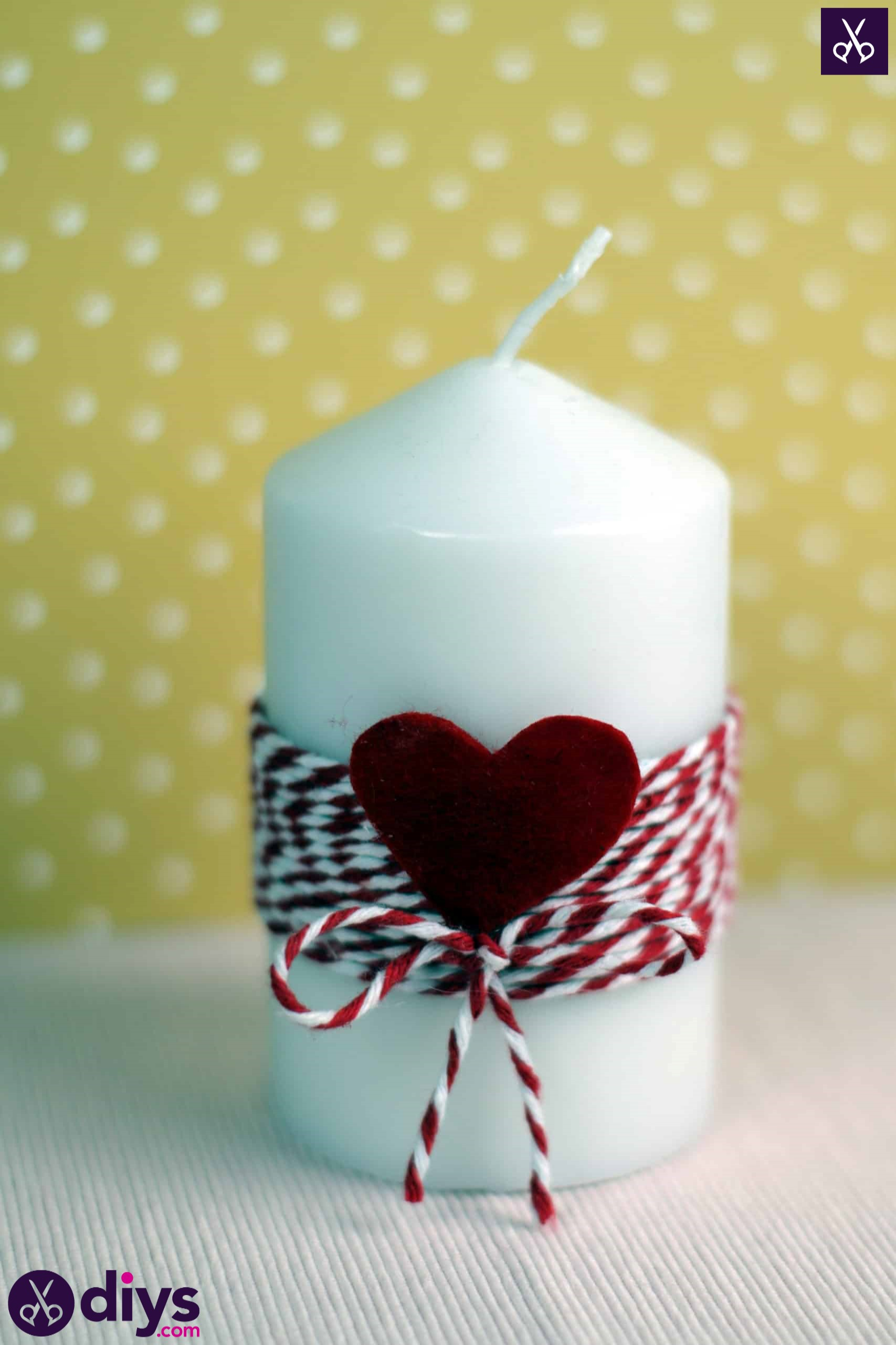 Diy valentine's candle simple craft