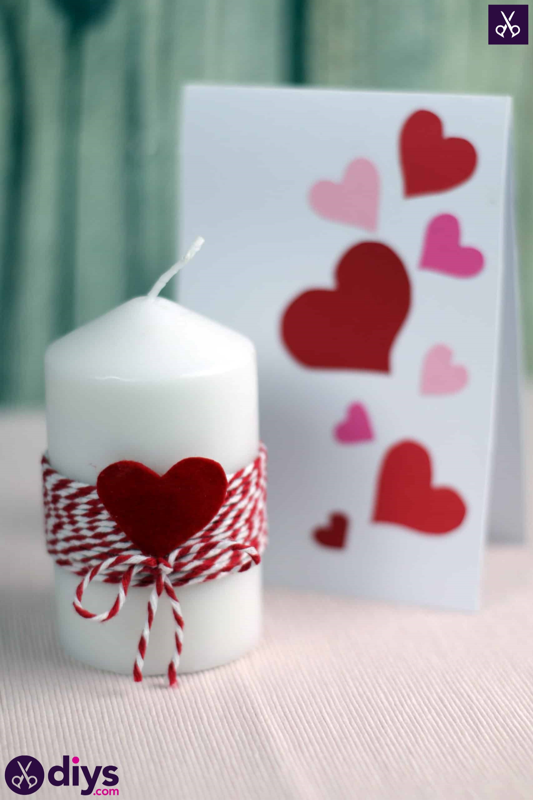 Diy valentine's candle