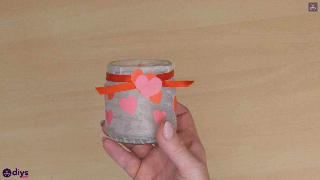 کاردستی نگهدارنده شمع روز ولنتاین