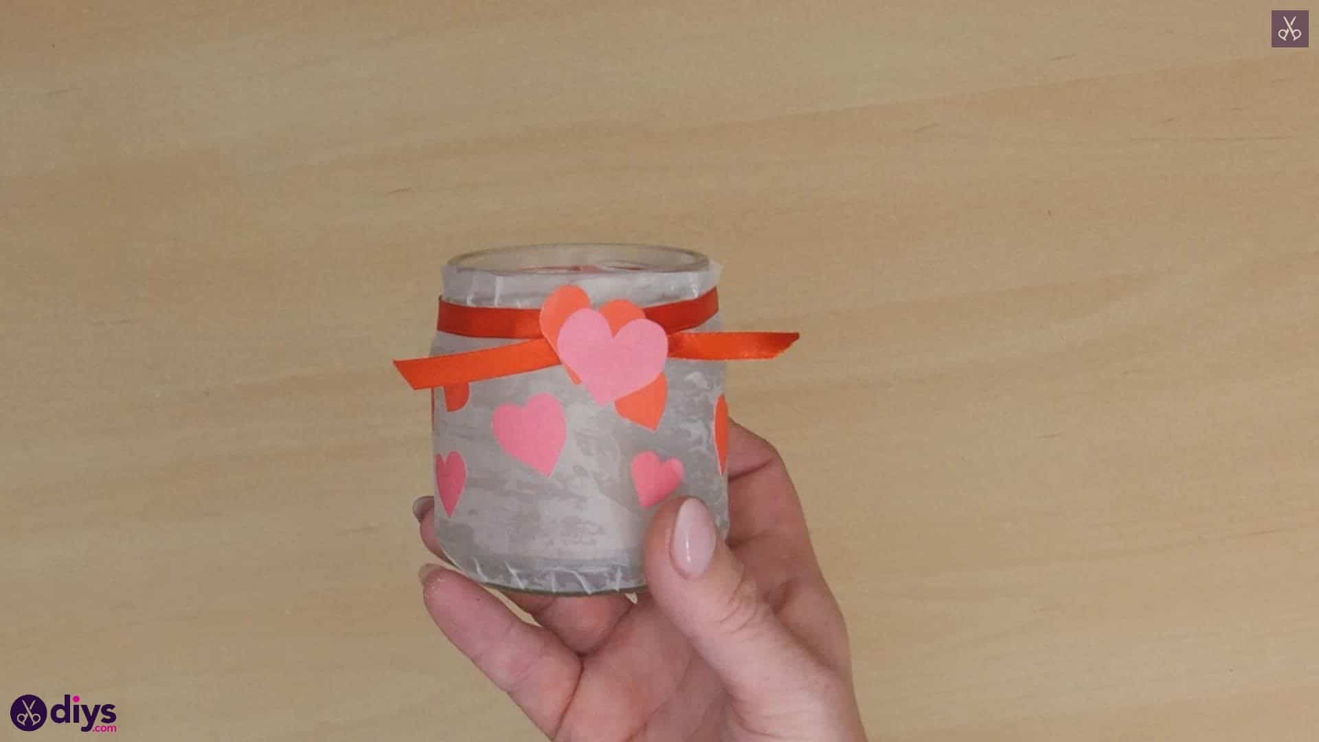 Valentine's day candle holder craft
