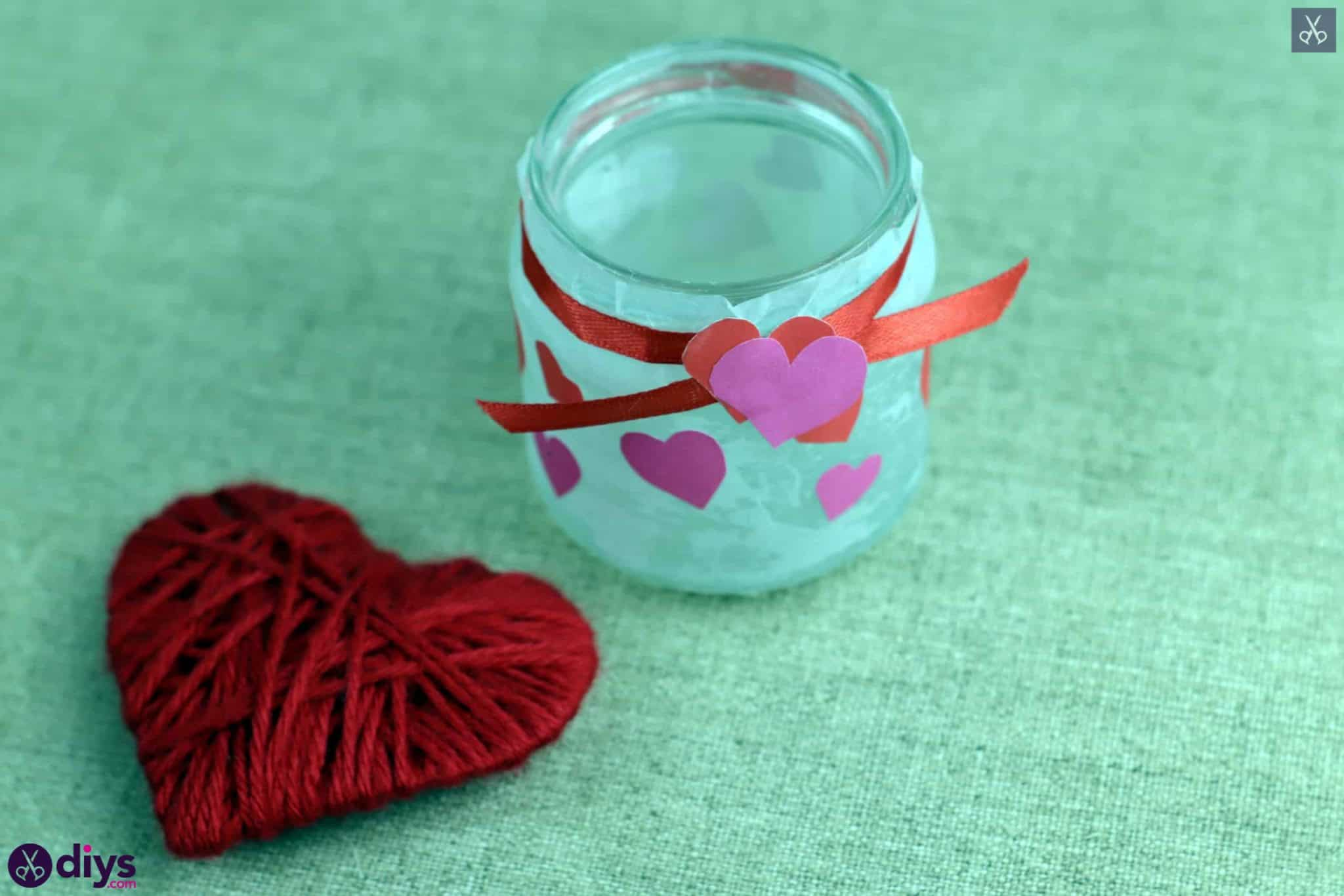 Valentines day candle holder decor