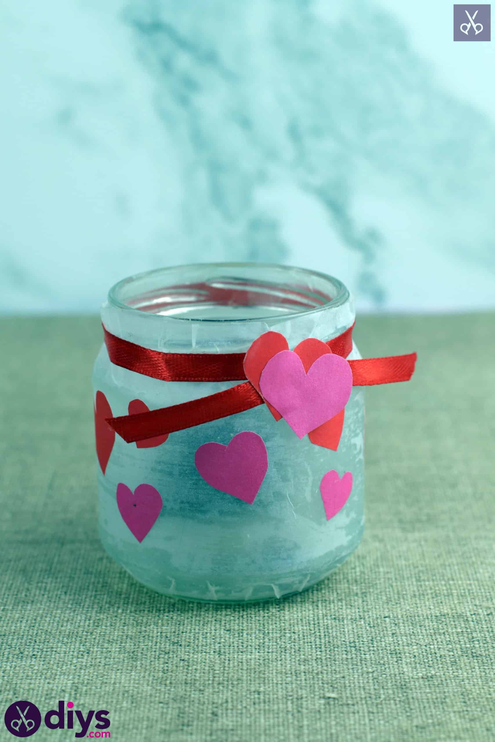 Valentines day candle holder simple