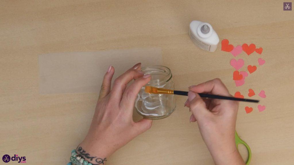 نگهدارنده شمع روز ولنتاین مرحله 4