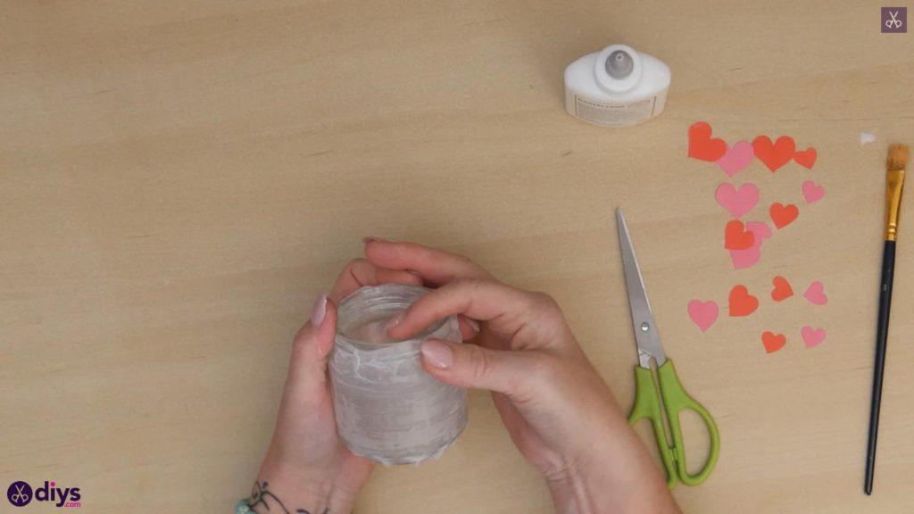 نگهدارنده شمع روز ولنتاین مرحله 4b