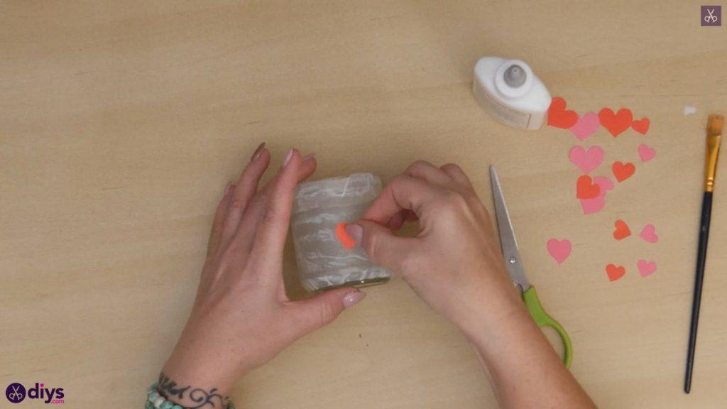 نگهدارنده شمع روز ولنتاین مرحله 5