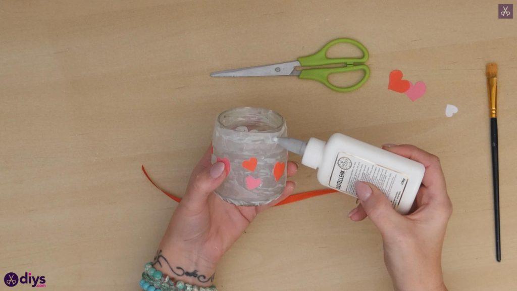 نگهدارنده شمع روز ولنتاین مرحله 6