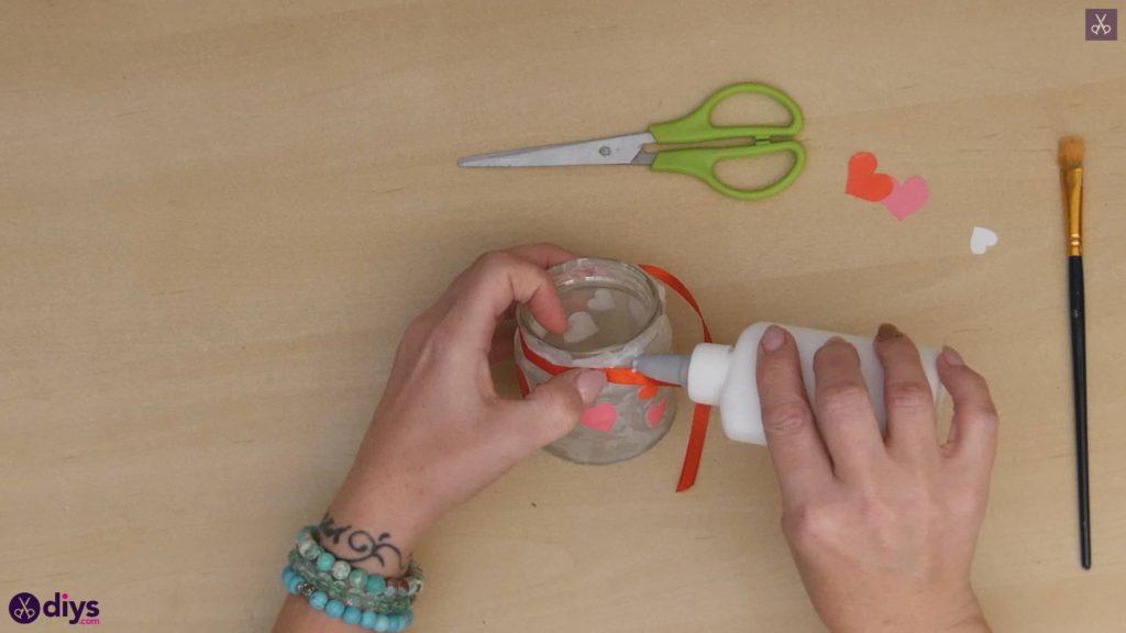 نگهدارنده شمع روز ولنتاین مرحله 6a