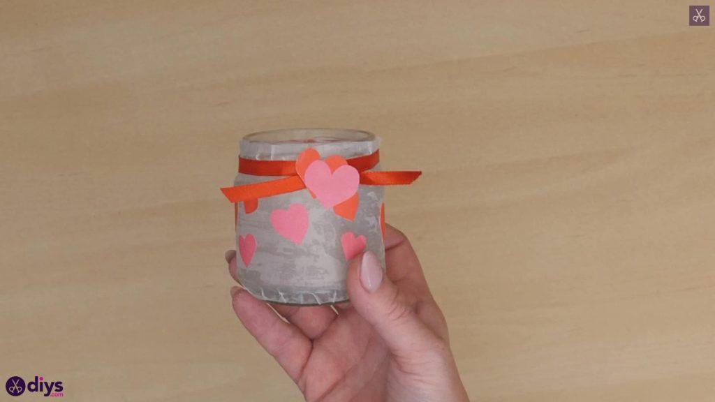 نگهدارنده شمع روز ولنتاین مرحله 7e