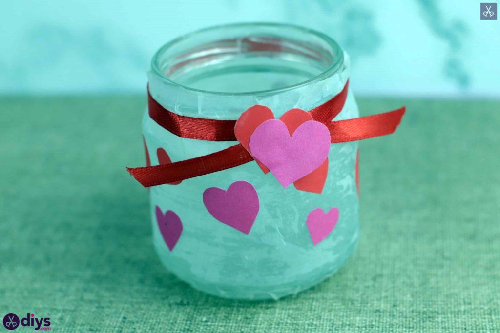 نگهدارنده شمع روز ولنتاین مرحله 8