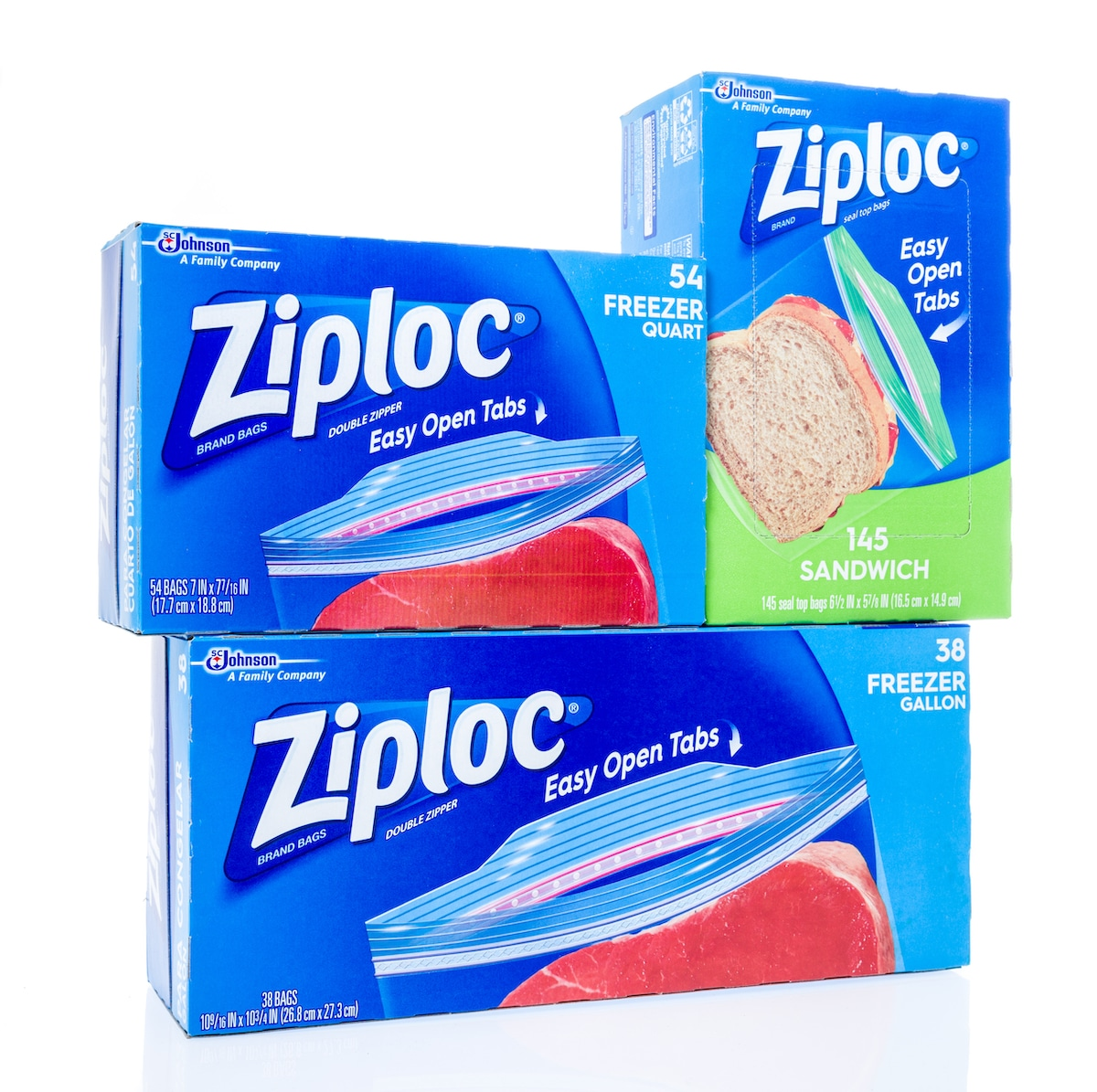 A picture showing ziploc bags