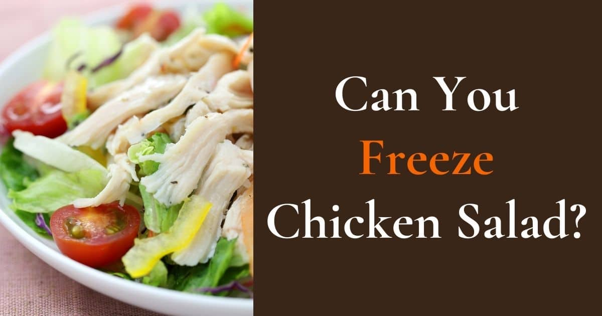 """A banner with the question, """"Can you freeze chicken salad?"""""""