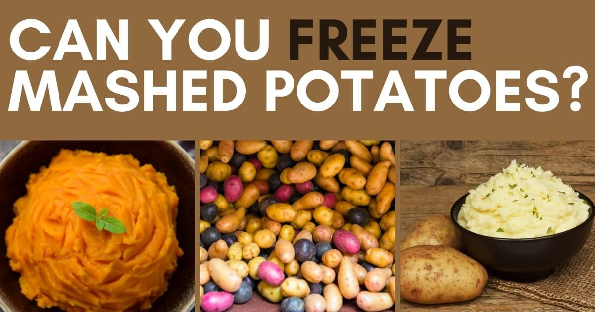 A banner showing the 2 main mashed potatoes; the classic and the sweet potatoes mashed!