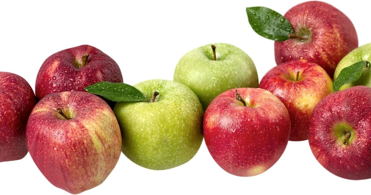 A picture of apples whole and with skin