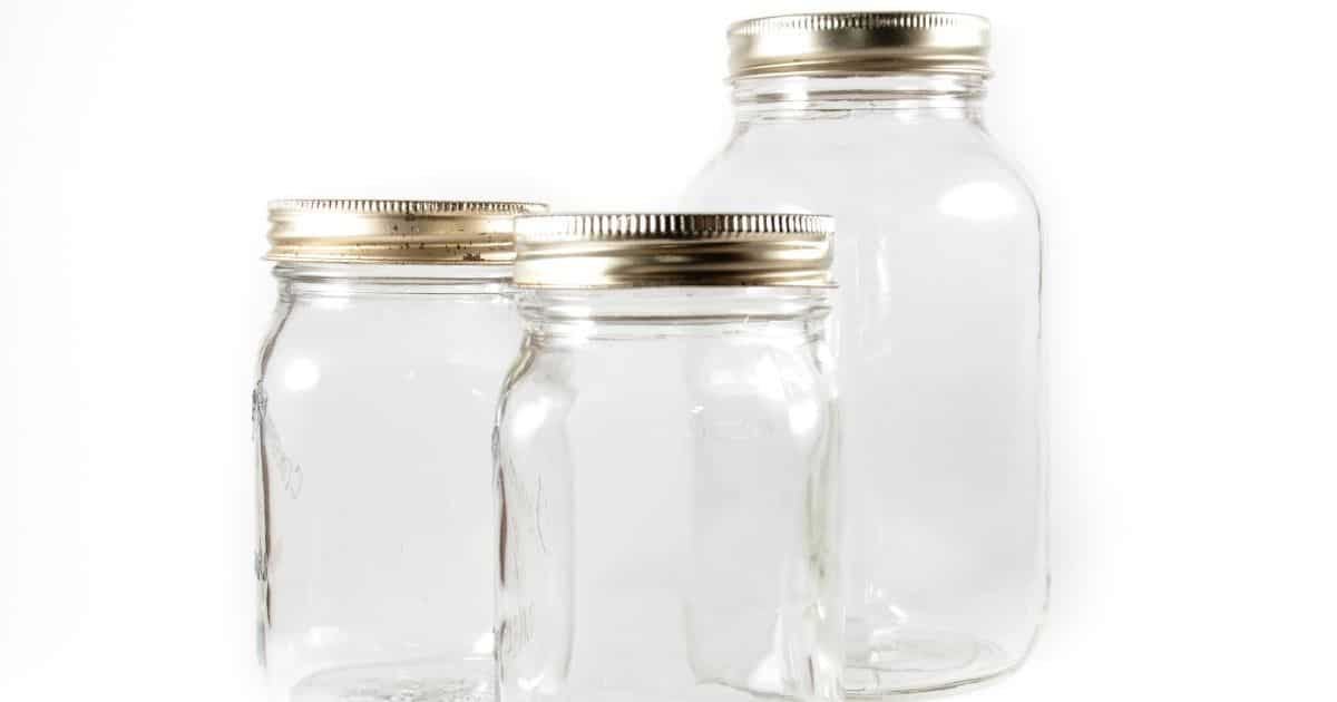 A picture of mason jars