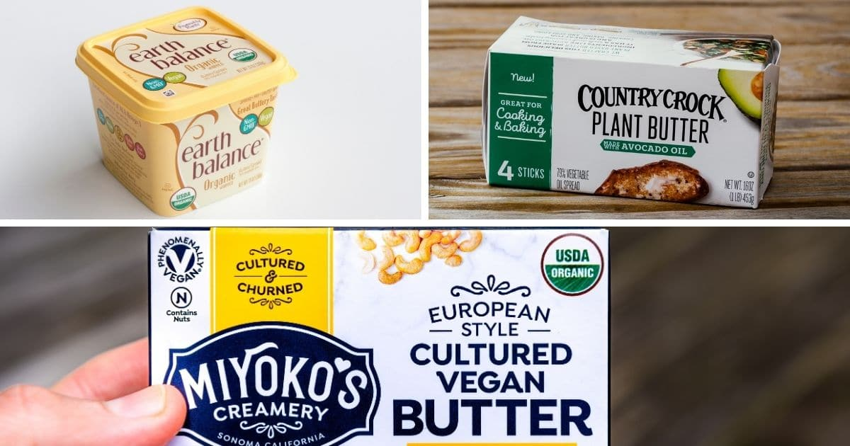 A picture of various vegan butter's