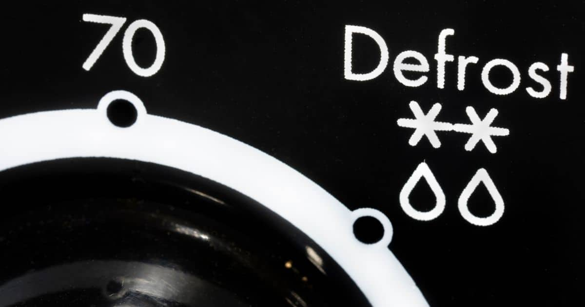 A picture of the defrosting button