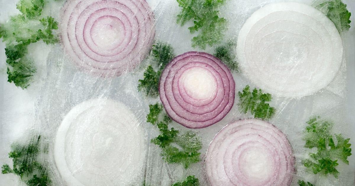 Frozen onions.